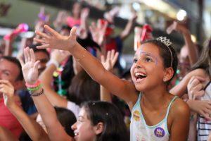 Crianças se divertem no Carnaval do CTN