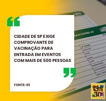 Passaporte da Vacina em São Paulo